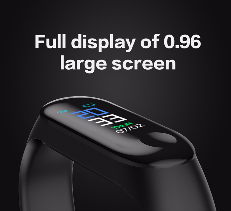 Full display of 0.96 large screen