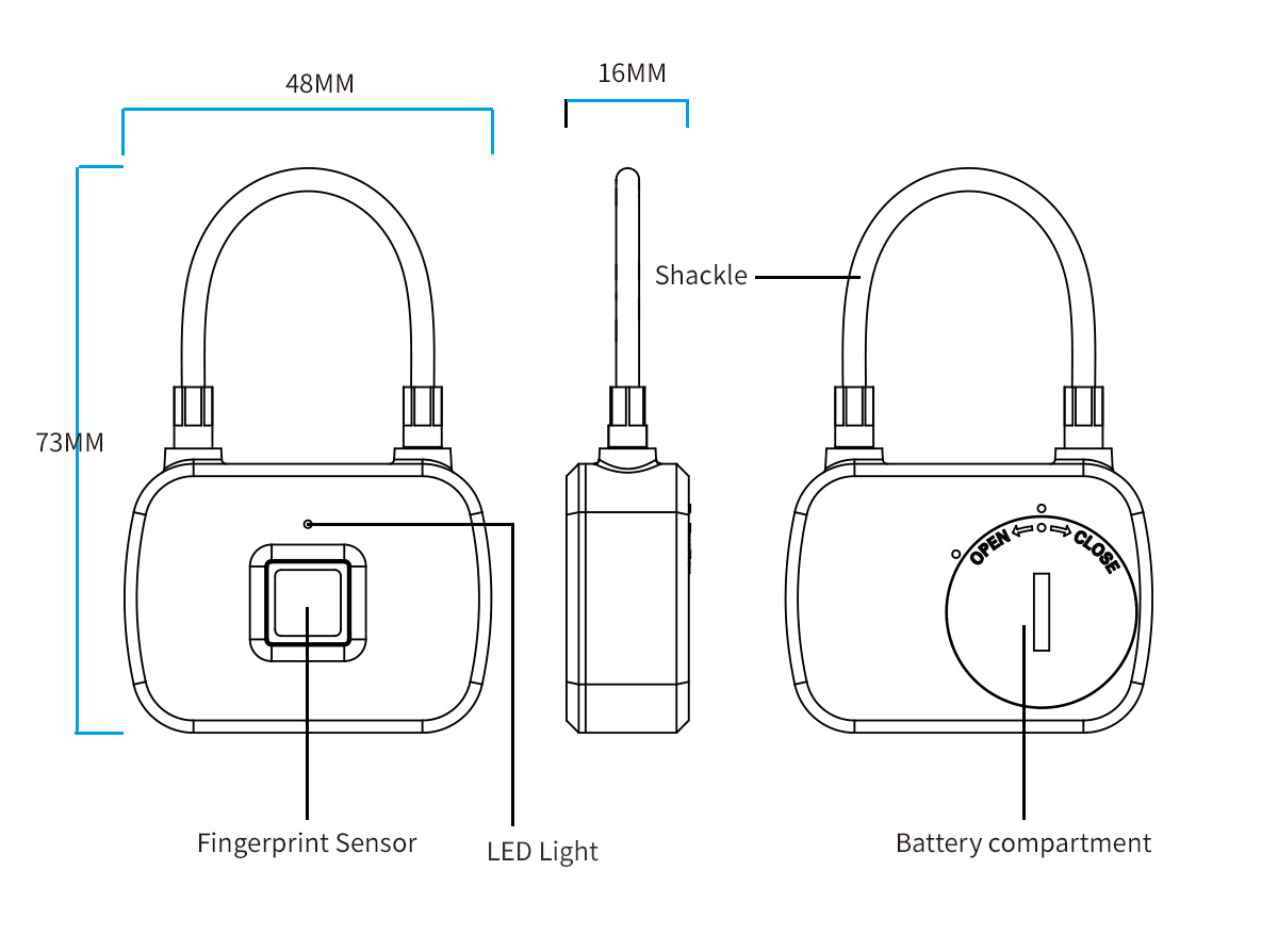 L13 fingerprint lock specification